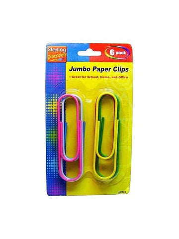 Jumbo Paper Clips (Available in a pack of 36)