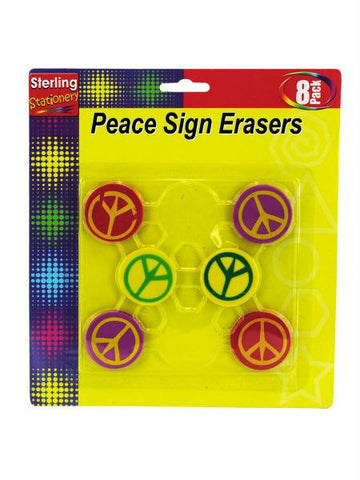 Peace Sign Erasers (Available in a pack of 24)