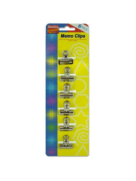 Small memo clips (Available in a pack of 24)