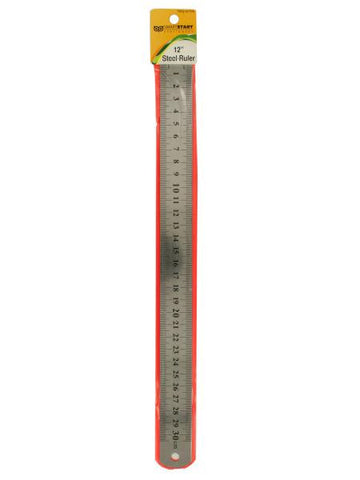 Standard & Metric Steel Ruler (Available in a pack of 24)