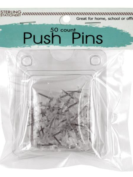 Clear Plastic Push Pins (Available in a pack of 24)
