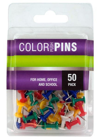 Colored Push Pins Set (Available in a pack of 24)