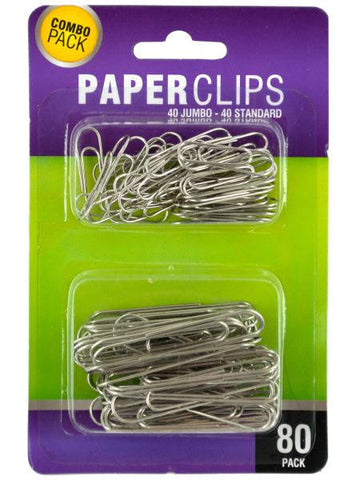 Standard & Jumbo Paper Clips Set (Available in a pack of 24)
