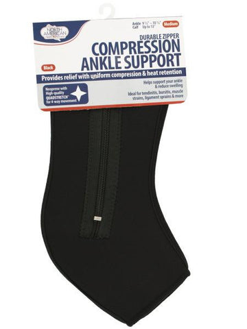 Medium Black Compression Ankle Support (Available in a pack of 8)