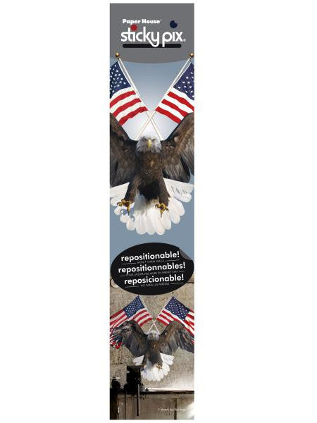 Eagle & Flags Sticky Pix Adhesive Wall Decor (Available in a pack of 4)