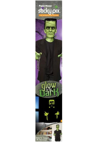 Glow in the Dark Frankenstein Sticky Pix Wall Decor (Available in a pack of 8)