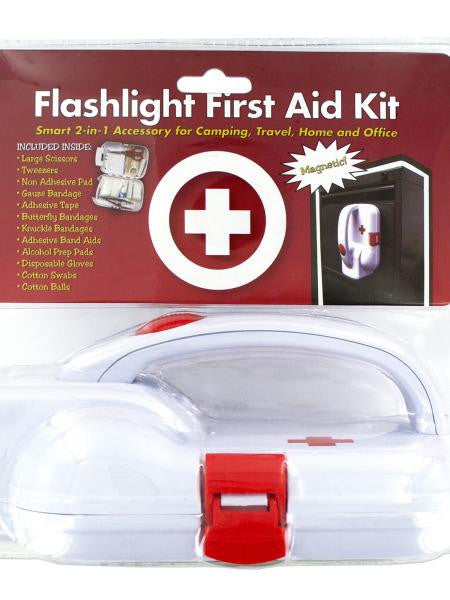 2-in-1 Magnetic Flashlight First Aid Kit (Available in a pack of 1)