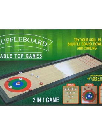3 In 1 Shuffleboard Tabletop Game (Available in a pack of 1)