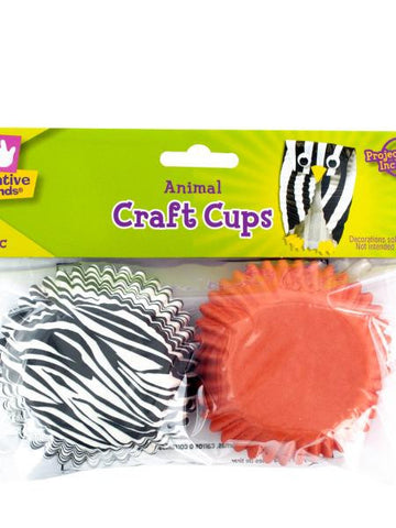 Animal Print Paper Craft Cups (Available in a pack of 36)