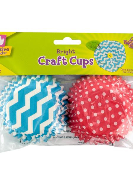 Bright Print Paper Craft Cups (Available in a pack of 36)