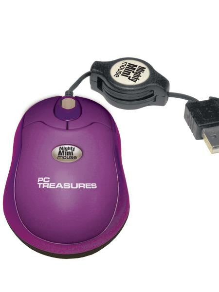 Purple Retractable Mini Mouse (Available in a pack of 5)