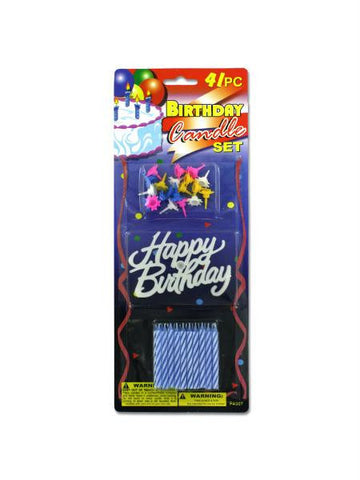Birthday Candle & Cake Decoration Set (Available in a pack of 24)