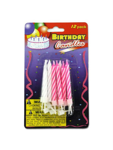 Birthday Candles with Plastic Stands (Available in a pack of 24)