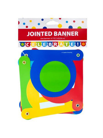 CELEBRATE Jointed Party Banner (Available in a pack of 24)