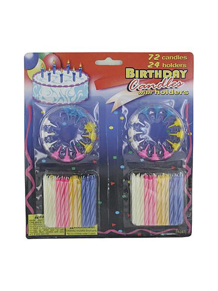 Birthday Candles with Holders Set (Available in a pack of 18)