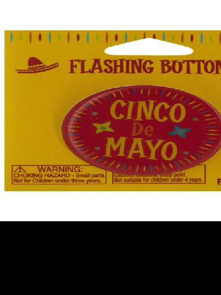 Cinco de mayo flashing button (Available in a pack of 24)