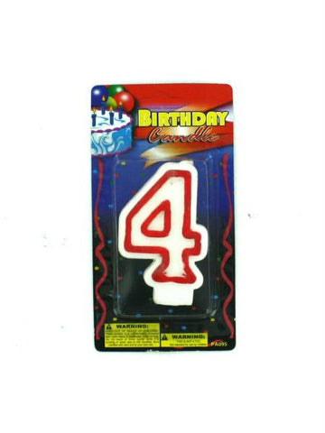 Numerical birthday candle (Available in a pack of 30)