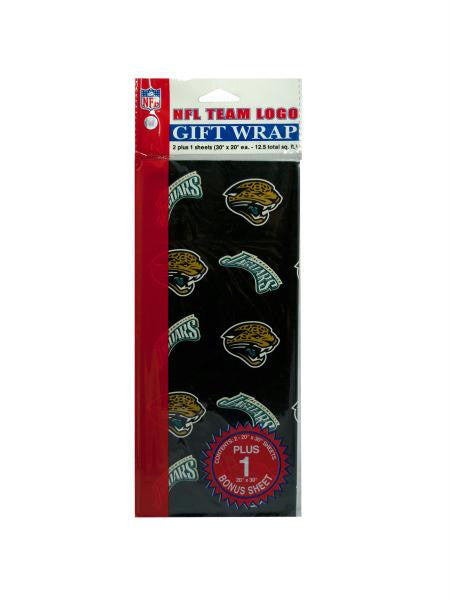 Jacksonville Jaguars team logo flat gift wrap (Available in a pack of 24)