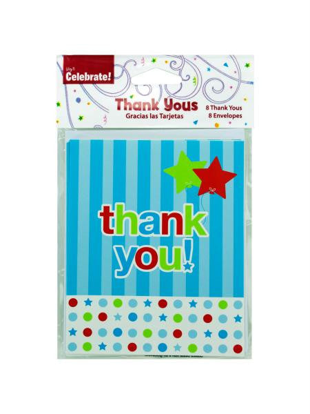 8 pack thank you cards (Available in a pack of 24)