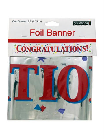 Congratulations Foil Party Banner (Available in a pack of 24)
