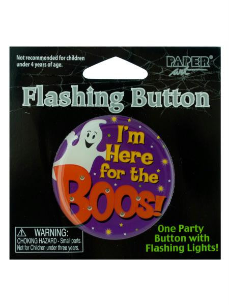 Flashing Halloween Party Button (Available in a pack of 24)