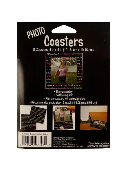 Celebrate Life Photo Coasters (Available in a pack of 24)