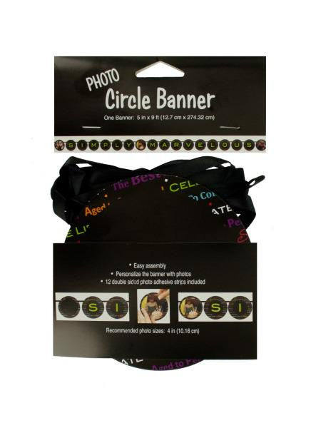 Simply Marvelous Photo Circle Banner (Available in a pack of 24)