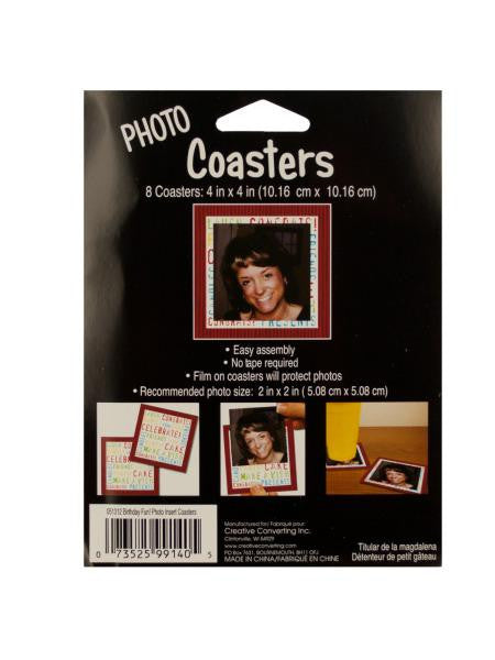 Congrats Photo Coasters (Available in a pack of 24)