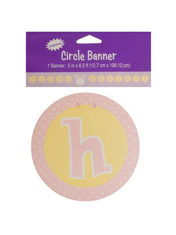 Happy Easter Circle Banner (Available in a pack of 18)