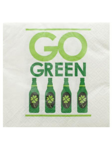 Go Green Irish Cocktail Napkins Set (Available in a pack of 24)