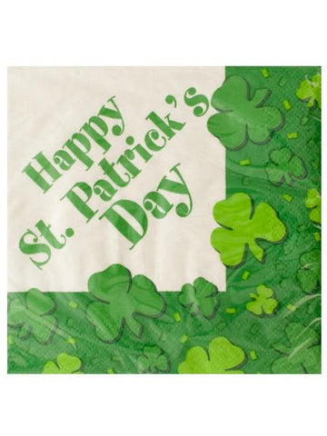 St. Patrick's Day Shamrocks Napkins Set (Available in a pack of 24)