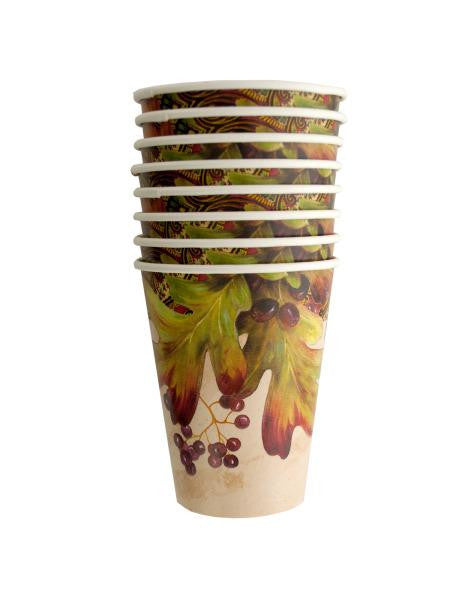 Leaves and Berries Cups Set (Available in a pack of 24)