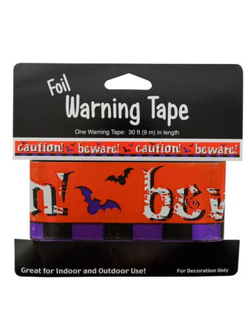 Foil Halloween Warning Tape (Available in a pack of 24)