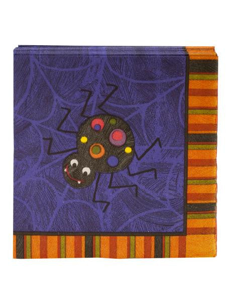 Spooky Spider Napkins Set (Available in a pack of 24)