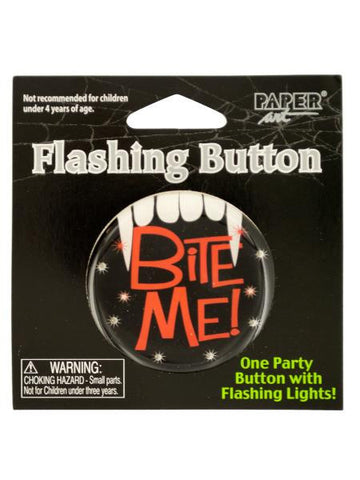 Halloween Flashing Bite Me Button (Available in a pack of 24)