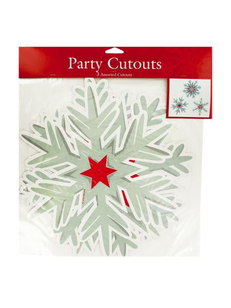 Nordic Snowflakes Party Cutouts (Available in a pack of 24)