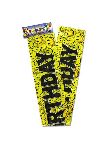 Happy face birthday banner (Available in a pack of 12)