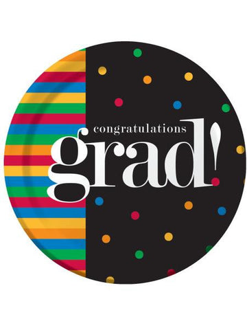 Grad U Made It Round Plates Set (Available in a pack of 24)