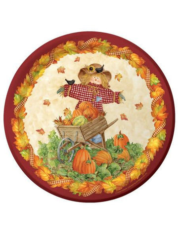 Pumpkin Fest Round Plates Set (Available in a pack of 24)