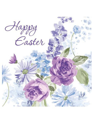 Happy Easter Lilacs Lunch Napkins (Available in a pack of 24)