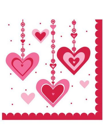 Heart Dazzler Lunch Napkins Set (Available in a pack of 24)