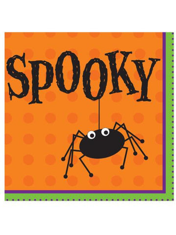 Halloween Spooky Spider Lunch Napkins Set (Available in a pack of 24)