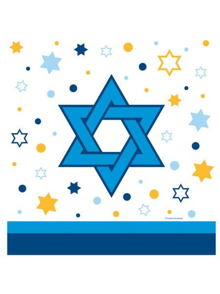 Stars of Hannukah Plastic Tablecover (Available in a pack of 24)