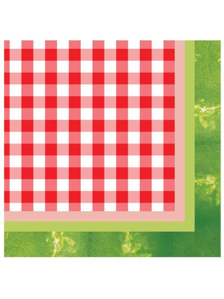 Juicy Watermelon Beverage Napkins Set (Available in a pack of 24)