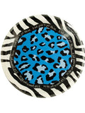 Blue Animal Print Birthday Plates (Available in a pack of 24)