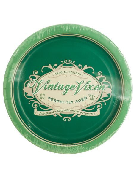 Vintage Vixen Birthday Party Plates (Available in a pack of 24)