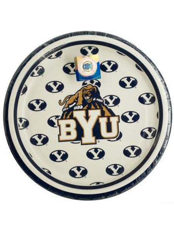 Brigham Young University Dessert Party Plates (Available in a pack of 24)