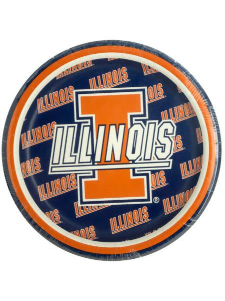 University of Illinois Dessert Party Plates (Available in a pack of 24)