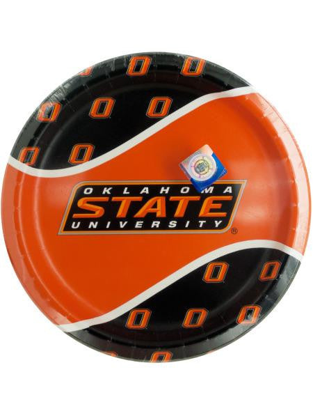 Oklahoma State University Party Plates (Available in a pack of 24)