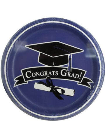 Congrats Grad Purple Party Plates (Available in a pack of 24)